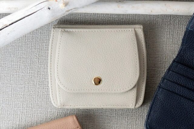 Bonaコンパクト財布-アイボリー