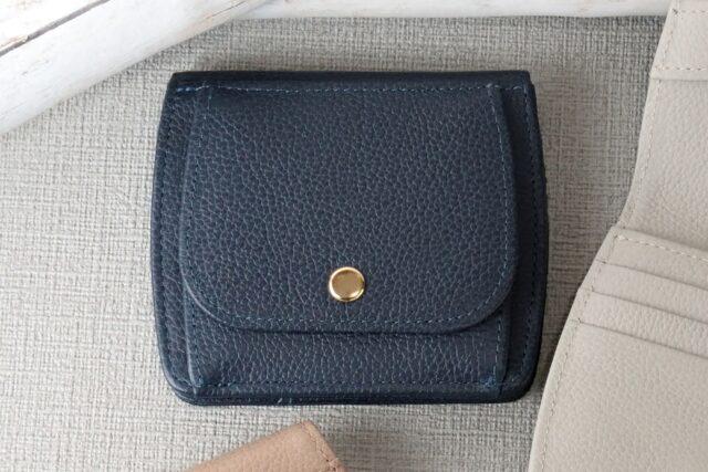 Bonaコンパクト財布-ネイビー